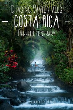 Costa Rica is the perfect vacation destination for any nature lover! This epic Costa Rica itinerary will have you exploring waterfalls by day, and relaxing in volcanic hot springs by night! Costa Rica Travel, Places To Travel, Travel Destinations, Places To Visit, Tabacon Hot Springs, Living In Costa Rica, Volcano National Park, Les Cascades, Vacation
