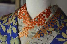 Japanese Embroidery Kimono nanten han-eri and kimono Yukata Kimono, Kimono Outfit, Kimono Fashion, Japanese Embroidery, Sashiko Embroidery, Embroidery Patterns, Japanese Outfits, Japanese Fashion, Traditional Kimono