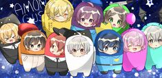 Chibi, Vocaloid, Rain, Family Guy, Singer, Japanese, Illustration, Cute, Fictional Characters