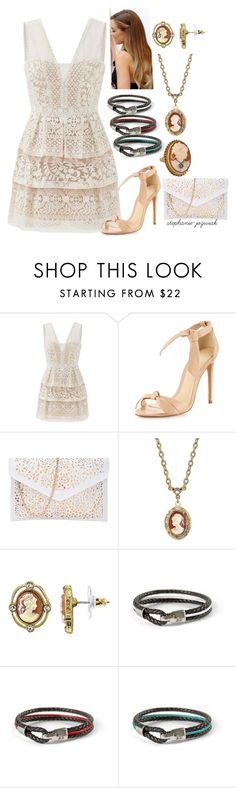 """Lydie's Nationals Dinner Dress"" by stephanie-jozwiak ❤ liked on Polyvore featuring BCBGMAXAZRIA, Alexandre Birman and 1928"