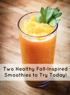 Two healthy fall-inspired smoothies to try