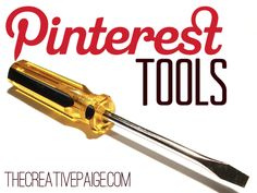pinterest tools! (a roundup from paige at the creative paige)