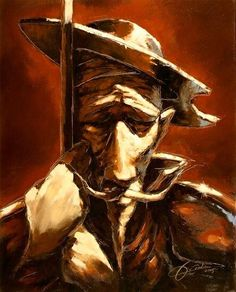Don Quijote al oleo sobre canvas