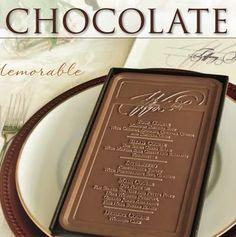 "CHOCOLATE Menu ""Card"".  Oh my goodness!  :)"