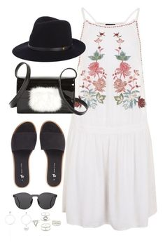 """""""Untitled #3965"""" by theaverageauburn on Polyvore featuring Topshop, Yves Saint Laurent, rag & bone, Illesteva and Charlotte Russe"""