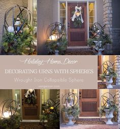 Decorate urns with beautiful lanterns from @BigLots for a fun and gorgeous look! Urns and spheres surrounded by beautiful garland, swag, and LED candles make an amazing statement for holiday decor. #BigSeason #BigLots #ad #urn #rustic #rusticluxe #winterwonderland #holidaydecor #christmasdecor #lifestyleblogger #homedecorblogger