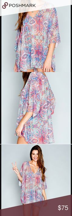 Show Me Your MuMu - Shook Tunic Shook Tunic - Great Barrier Reef. Oversized fit so can fit XS-L. Perfect condition! Show Me Your MuMu Tops Tunics