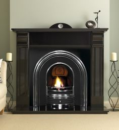 Fireplace Packages | Black Granite Fireplace Packages from Direct Fireplaces