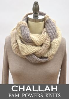 Challah Infinity Scarf PDF Knitting Pattern by PamPowersKnits,