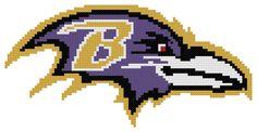Counted Cross Stitch Pattern Baltimore Ravens Logo by AnjisAntics