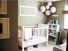 Thinking about doing something like this behind the crib- with the letters Amy gave me :)