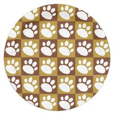 Brown and Tan Checkerboard Paw Print Paper Plate  sc 1 st  Pinterest & Floral Whale Shark Vector Art Paper Plates | Whale sharks
