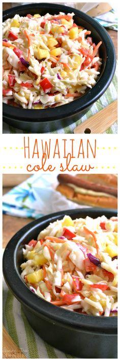 Hawaiian Cole Slaw and Ball Park Park's Finest hot dogs - the perfect summer pairing! #FinestGrillathon #ad @BallParkBrand