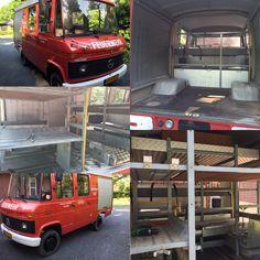 Mercedes 409 build it up as a camper