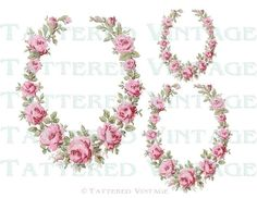 Rose Vintage Decals from Etsy/tatteredvintage, instant download.