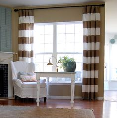 from @thenester.com.  I am officially obsessed with these stripe curtains.