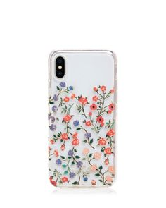 kate spade new york Mini Bloom Dip iPhone X Case - Clear Multi Girly Phone Cases, Pretty Iphone Cases, Diy Phone Case, Iphone Phone Cases, Iphone Case Covers, Cellphone Case, Telefon Apple, Iphone 7 Plus, Accessories