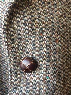 1960s Harris Tweed Brown Multicolor Speckled Two by flickaochpojke