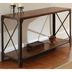 Windham Solid Wood/ Iron Sofa Table | Overstock.com Shopping - Great Deals on Coffee, Sofa & End Tables