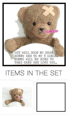 """GET WELL SOON"" by purplerose27 ❤ liked on Polyvore featuring art"