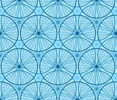 wheels : blue sky cycling fabric by sef on Spoonflower - custom fabric