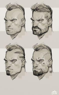 Face ideation by BMitkov - Borislav Mitkov - CGHUB via PinCG.com