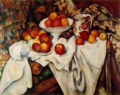 Paul Cezanne:  Apples and Oranges    1899.  Oil on canvas - Musee d'Orsay, Paris France.