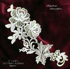 Exquisite Flower Lace Ivory Venise Guipure Bridal dress APPLIQUE Trim Pce AI-16 | eBay