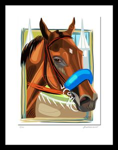 American Pharoah Thoroughbred Race Horse Giclee by SierraFineArt
