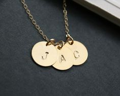 Custom Three initial necklace personalize necklace  by DelicacyJ, $25.00