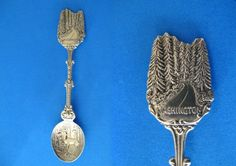 Souvenir Spoons From Different States | Washington State Souvenir Collector Spoon Collectible Forests Deer