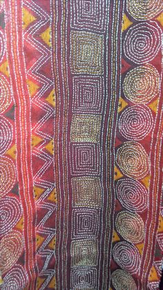 kantha stitch, India, similar to sashiko. I could re intemperate this stitch in hand and by machine