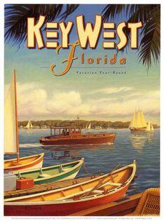 Key West, Florida travel poster