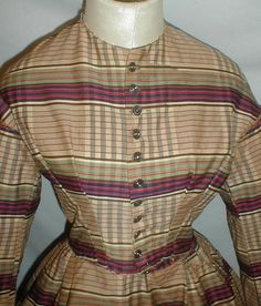 All The Pretty Dresses: Plaid 1860's Day Dress