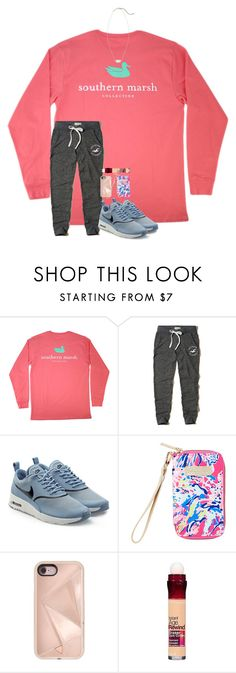 """""""my new obsession is greys anatomy!"""" by blonde-prepster ❤ liked on Polyvore featuring Hollister Co., NIKE, Lilly Pulitzer, Rebecca Minkoff, Maybelline and Kendra Scott"""