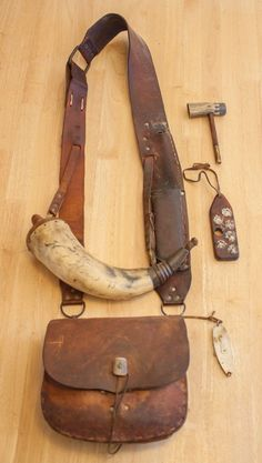 Leather Hats, Leather Pouch, Leather Craft, Larp, Shooting Bags, Black Powder Guns, Man Gear, Powder Horn, Viking Clothing