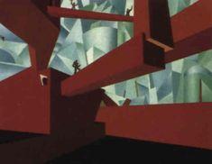 Ivo Pannaggi (italien, né en 1901) Titre : I Prigionieri , 1925