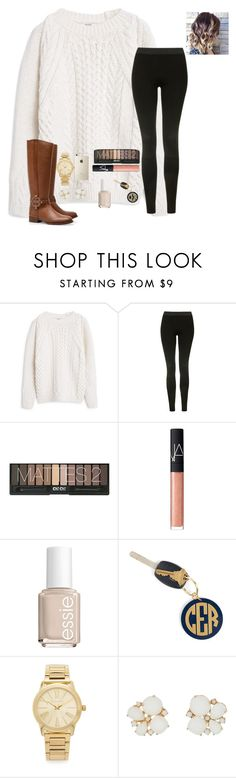 """So let me hold both your hands in the holes of my sweater"" by raquate1232 ❤ liked on Polyvore featuring MANGO, Topshop, Tory Burch, NARS Cosmetics, Essie, Hartford, Michael Kors and Kate Spade"