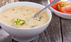 leftover mashed potatoes, ham and corn soup. Homemade Potato Soup, Cream Of Potato Soup, Potato Corn Chowder, Chowder Soup, Baked Potato Soup, Cream Soup, Corn Soup Recipes, Chowder Recipes, Chili Recipes