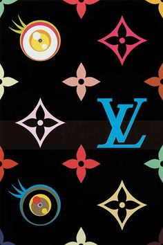 Louis Vuitton eye love superflat blue, 2003, by Takashi Murakami
