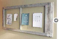 old door frame as new notice board