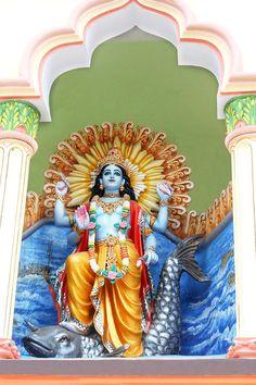 Matsya Avatar - First Incarnation of Lord Vishnu (Photographic Print - Unframed)