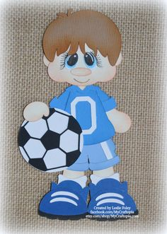 Items similar to Soccer Boy Premade Scrapbooking Embellishment Paper Piecing Die Cut on Etsy Foam Crafts, Preschool Crafts, Diy And Crafts, Paper Piecing, School Decorations, Scrapbook Embellishments, Treasure Boxes, Box Design, Mini Albums
