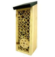 WOODEN BAMBOO INSECT BUGS GARDEN HANGING HOTEL HOME BEES LADYBIRD NEST BOX HOUSE | eBay