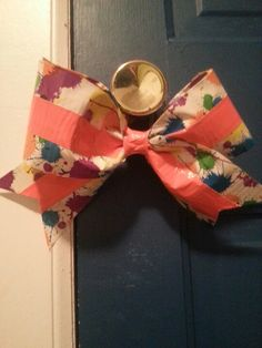 Another cheer duck tape bow