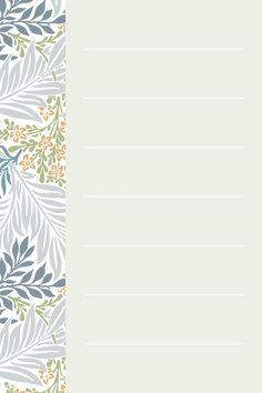 Green William Morris Pattern notepaper template vector | premium image by rawpixel.com / Katie Moir