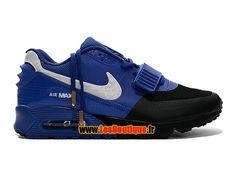 Nike Air Yeezy 2 X Max 90 Premium - Chaussure Nike LifeStyle Pas Cher Pour Homme Bleu électrique/Noir/Blanc 508214-215