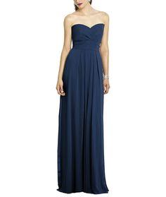 DescriptionAfter Six Style 6669Fulllength bridesmaid dressStrapless sweetheart necklinePleated waistband at empire waistLux chiffon