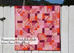 6 Free Charm Pack Quilt Patterns. I love that this one lets you do a charm pack, or some material that you mix and match yourself.