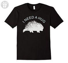 Mens I Need a Hug - Funny Porcupine Tee Shirt 2XL Black - Funny shirts (*Amazon Partner-Link)